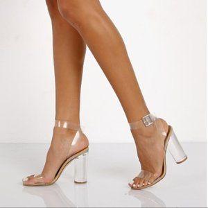 "Steve Madden Clearer 4"" Lucite Heel Sandals"